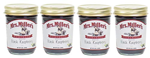 Mrs. Miller's Homemade Seedless Jam, Black Raspberry, 9 OZ (Pack of -
