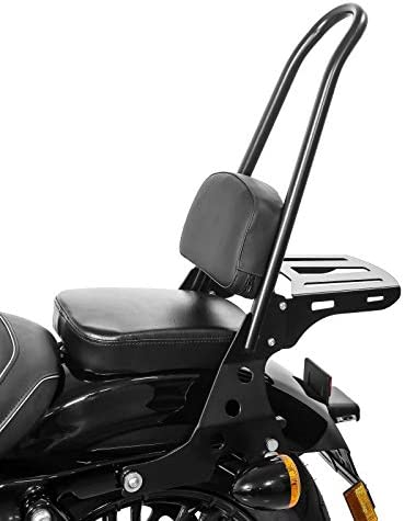 Harley Sportster Forty-Eight 48 Special 18-19 noir Sissy Bar+Porte Bagages CSL p