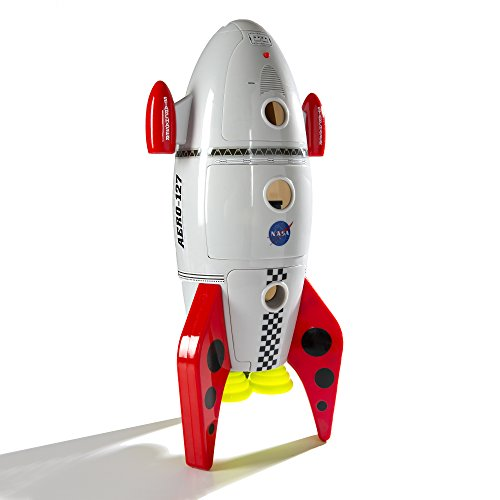 CP Toys Plastic Space Mission Rocket Ship with 5 Figures and Realistic Sounds / 7 pc. Set