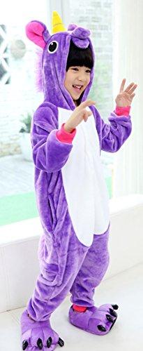 Iperry Unisexe Enfants Animaux Purpel Pyjama Licorne Halloween Enfants Onesie Costume Violet