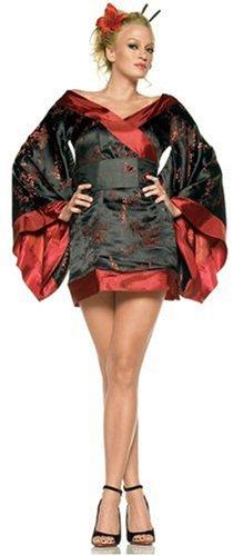 Leg Ave Women's Geisha Costume, Red/Black, Small -