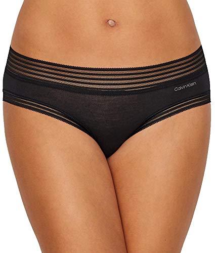 Calvin Klein Women's Modal Bikini Panty, Black, (Calvin Klein Hipster Lingerie)