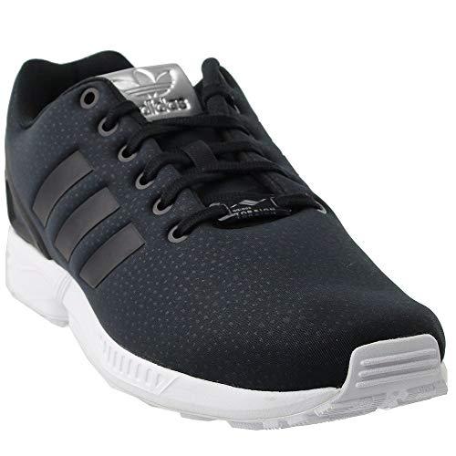 adidas Originals Women's ZX Flux W Running Shoe Black/Metallic Silver, 8.5 Medium - Womens Zx Adidas