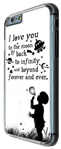 I love you the moon and back to infinity and beyong 208 Design iphone 6 4.7'' Fashion Trend Hülle Case Back Cover Metall und Kunststoff