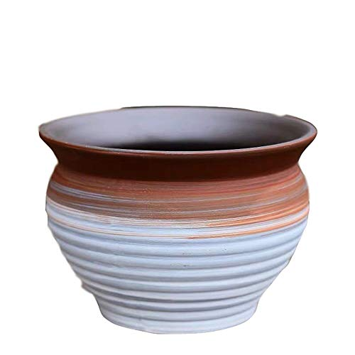 (YSM Chinese Creative Ceramic Flower Pot, A Set of Two Flower Pots, Can Be Placed On The Balcony, Living Room, Dining Table, Bedroom Decoration, red)