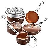 Best Ceramic Cookwares - SHINEURI Nonstick Ceramic Copper 10 Pieces Cookware Set Review