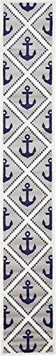 (Unique Loom Metro Collection Modern Nautical Geometric Anchor Gray Runner Rug (2' 0 x 13' 0) )