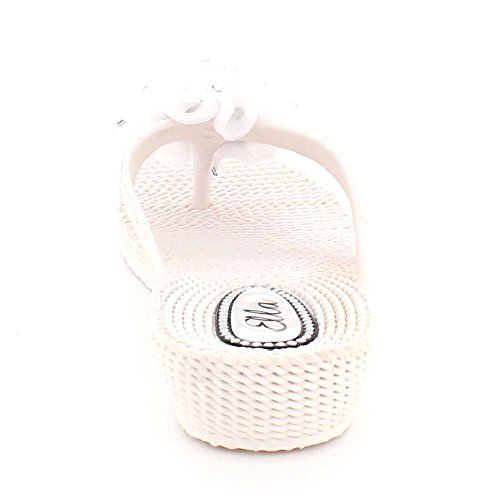 Shoes Size Casual Post Summer Comfort Women LONDON White Ladies Lightweight Toe Sandals Flat On AARZ Slip CqTg1