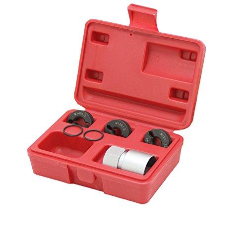EWK Reverse Action Wheel Stud Thread Restorer Chaser Kit Lug Stud Repair Tool M12 M14