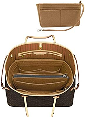 LEXSION Felt Purse Insert Handbag Organizer Bag in Bag Organizer with Handles