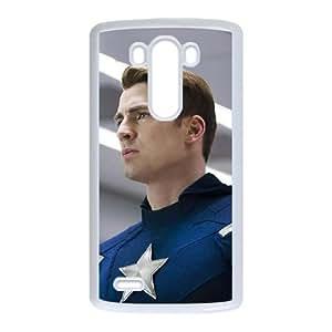 Captain Americ LG G3 Cell Phone Case White JT3858159199