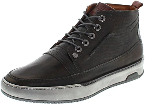 Rehab Schuhe Trevor Classic Dark Grey/Herren Halbschuhe Grau/Lederschuhe/Schnürschuhe/High Top Sneaker Dark Grey