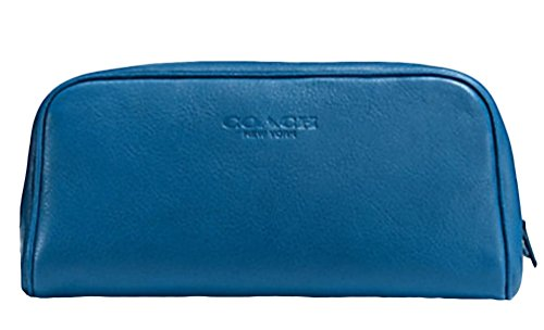 Coach Leather Weekend Travel Kit Toiletry Dopp Shave Bag NWT $185 Blue Denim F93445 by Coach