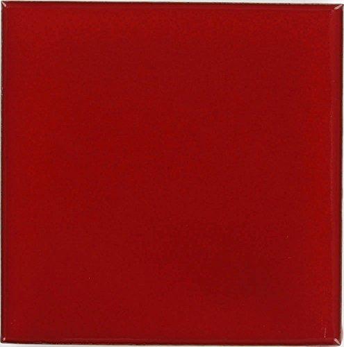- Tierra y Fuego Box of 9-4¼ x 4¼ Red - Talavera Mexican Ceramic Tiles