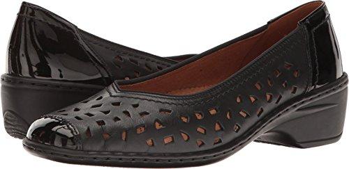 ara Women's Rashida Slip-on Loafer, Black Calf/Patent, 7.5 M US