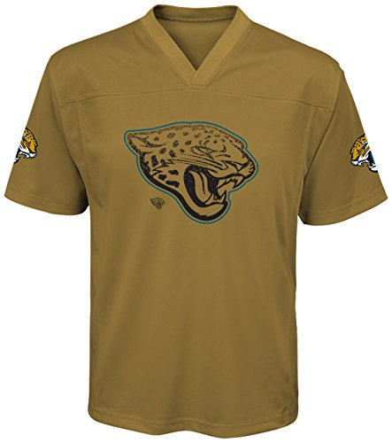 NFL Jacksonville Jaguars Youth Boys Color Rush Fashion Top, Small (8), Ochre