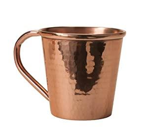 sertodo moscow mule mug copper handle 12 fluid ounces hammered copper kitchen. Black Bedroom Furniture Sets. Home Design Ideas