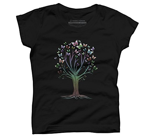 butterfly-tree-girls-small-black-youth-graphic-t-shirt-design-by-humans