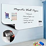 "Magnetic Whiteboard Sticker, 94"" x 48"" Dry Erase"