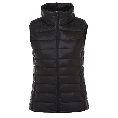 Was Xuanku Autumn Stand Section And Can Jacket Sleeveless Collar Female Slim Thin Accommodate Black Down Short Thin Vest Vest Winter wfnwxpv
