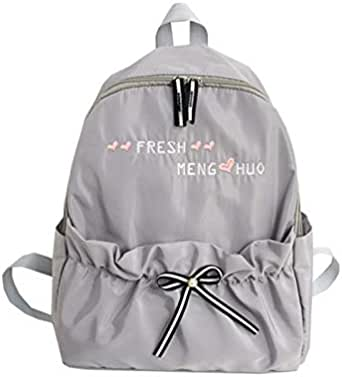 حقيبة ظهر نسائية بتصميم القوس الخنفساء ذات سعة كبيرة حقيبة ظهر داخلية بسحاب جيب