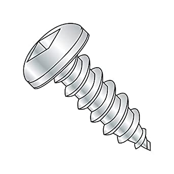 1-1//2 Length Zinc Plated #14-10 Thread Size Steel Sheet Metal Screw Square Drive Pack of 25 1-1//2 Length Pack of 25 Type A Small Parts 1424AQP Pan Head