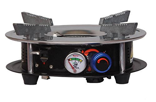 Drhob Portable Cooking Gas Stove Burner 10,000 BTU Dual Fuel Propane or Butane Patio Stove Outdoor Indoor Gas Cooker for Hiking, Camping, Backpacking and Emergency Preparedness Portable Propane Cooker