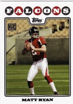 2008 Topps # 331 Matt Ryan ( Boston College ) RC - Rookie Card - Atlanta Falcons - NFL Trading Cards in a Protective Display Case! (Atlanta Falcons Mint Nfl Card)