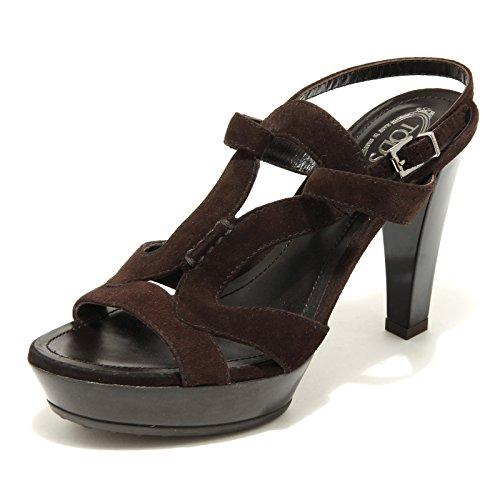 2451 marrone sandalo TOD S scarpe donna shoes women testa di moro