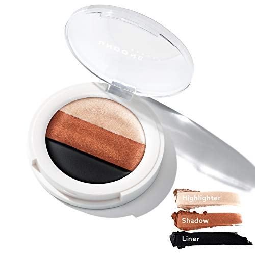 3-in-1 Cream Eye Palette. Highlighter, Eyeshadow & Liner. Castor Oil for Nourishing & conditioning - UNDONE BEAUTY 3-in-1 Eye Palette. Long wear Base, High Pigment Shadow & Liner Eye. EARTHLING