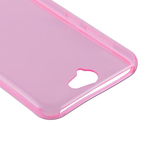 Cadorabo - HTC ONE A9 Cubierta protectora de silicona TPU en diseño AIR - Case Cover Funda Carcasa Protección en TRANSPARENTE-LILA TRANSPARENTE-ROSA