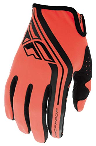 Fly Racing Unisex-Adult Windproof Lite Gloves (Orange/Black, Youth Large)