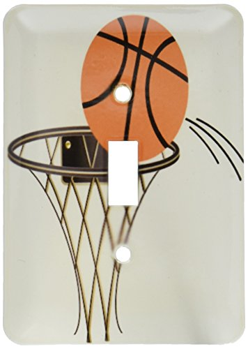 3dRose LSP 165460_ 1canasta de baloncesto de dibujos animados interruptor de botón único