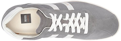Hugo Boss Boss Orange Mens Rumba Sneaker Tennis In Camoscio Grigio Medio