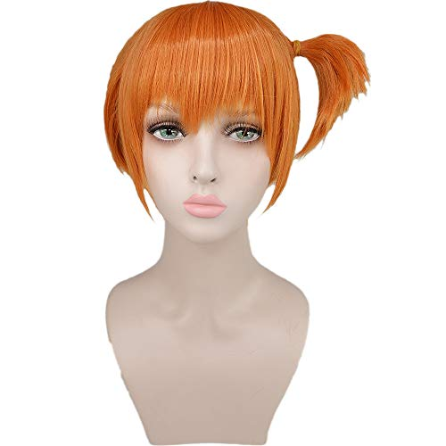 Misty Wig Short Orange Hair Pokémon Halloween Costume Wig -