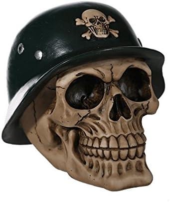 DONREGALOWEB Hucha Figura con Forma de Calavera con Casco Militar