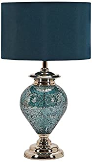 Deco 79 Madie Table Lamp, Blue/Silver