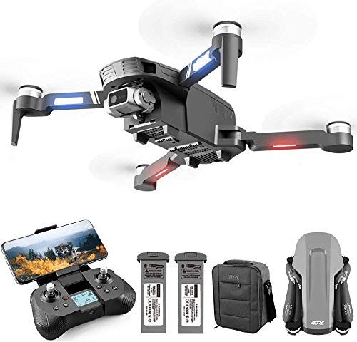 4DRC F4 GPS Drone with 4K Camera for Adults, 2-Axis Stable camera, quadcopter with 5GHz FPV Live Video,GPS Return Home…