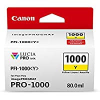 Canon 0549C002 CanonInk Lucia PRO PFI-1000 Yellow Individual Ink Tank