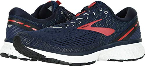 Brooks Men's Ghost 11 Navy/Red/White 9.5 D US