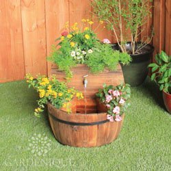 - Gardenique Bordeaux Wine Barrel Fountain and Planter