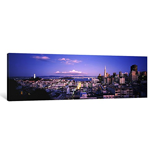 iCanvasART 1 Piece High Angle View of a cityscape from Nob Hill, San Francisco, California, USA Canvas Print by Panoramic Images, 36 x 12