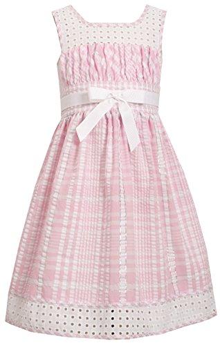 nk White Twin Check Eyelet Trim Seersucker Dress 7-16 (12) ()