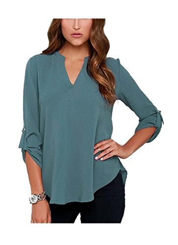ARJOSA Womens Chiffon Sleeve Blouse
