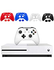 $519 » Microsoft Xbox One S 1TB Console - White - with 1 Xbox Wireless Controller - 4K Ultra Blu-ray and 4K Video Streaming - Family Home Christmas Holiday Gaming Bundle - iPuzzle Silicone Cover (Renewed)