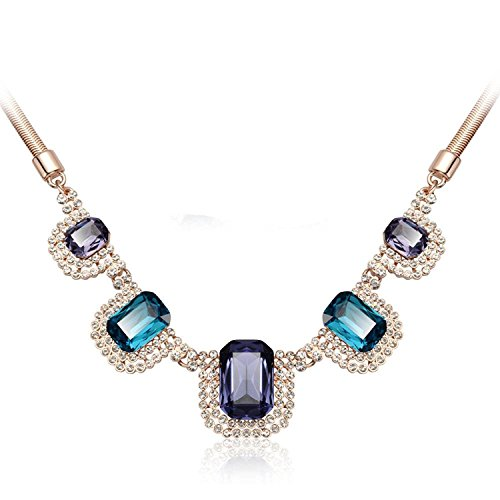 IUHA Gorgeous Made with Large Cubic Zirconia Eye-catching Necklace Party Prevent allergies For Women Gifts by IUHA