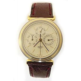 Uhr theorein Kelek Herren 5300-A Schalter Stahl Quandrante weiß Armband Leder