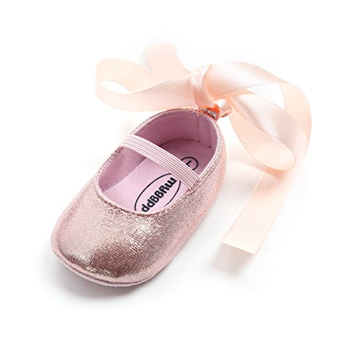 Baby Girls Ballet Flats Shoes Mary Janes Girl Princess Shoes Gift Birthday Shoes First Walkers(11cm(0-Months),Pink) ()