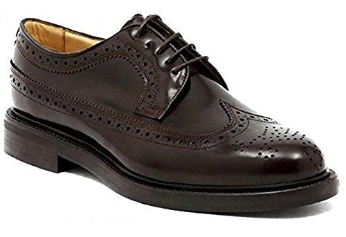 Soldini - Zapatos de cordones de Piel para hombre Marrón marrón