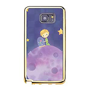 Hot Popular Animation film Le Petit Prince Cell Phone Case The Little Prince Premium Samsung Galaxy Note 5 Gold Frame Phone Case